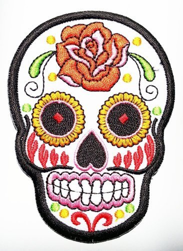 white-sunny-buick-rose-sugar-skull-patch-embroidered-iron-on-hat-jacket-hoodie-backpack-ideal-for-gi