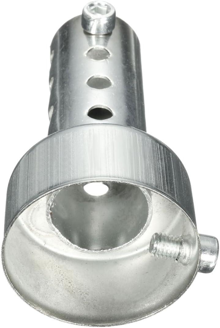 Vaorwne Silver Pot D/échappement de Moto Peut Ins/érer Silencieux Baffle DB Killer Silencer 42Mm X 80Mm
