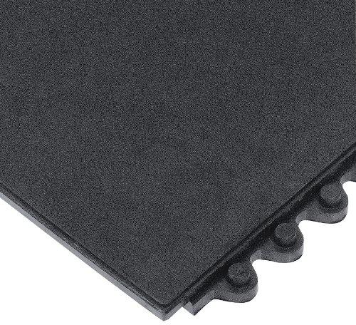 Wearwell 570.58x3x3GRBK 24/Seven Anti-Fatigue Solid Mat, Grease Resistant, 91 cm x 91 cm, Black