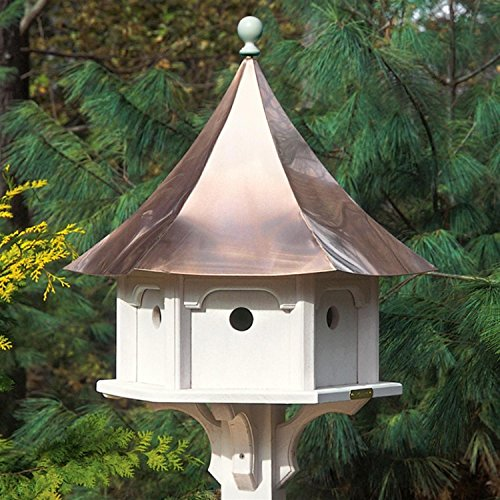 25'' Outdoor Enchanted Polished Copper Carousel Garden Birdhouse by CC Home Furnishings