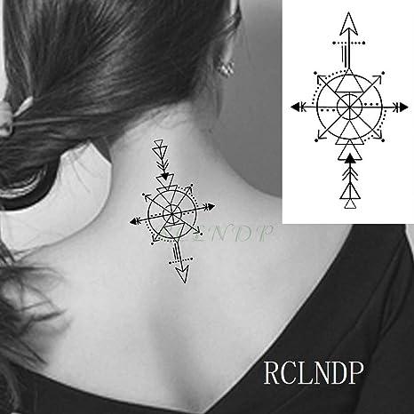 tzxdbh Impermeable Etiqueta engomada del Tatuaje Flor Rosa Tatto ...