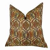Plutus Brands Plutus Orbitz Handmade Throw Pillow, 16'' x 16'', Purple/Olive/Red