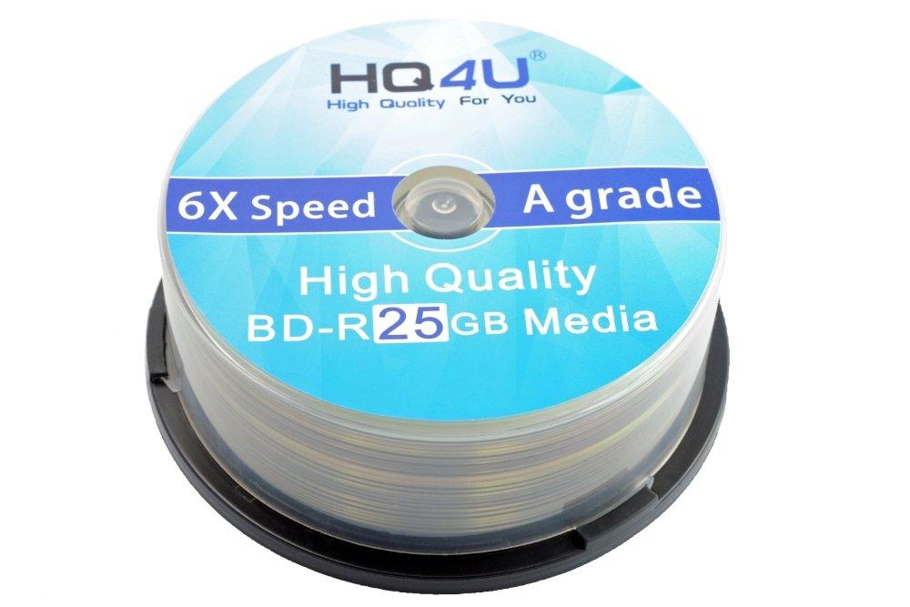 HQ4U Blu-ray BD-R 25GB 6x Speed Spindle Storage 25er Spindel: Amazon ...