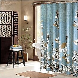 Hanami 72 Inch X Shower Curtain Asian Floral Design Amazon Books
