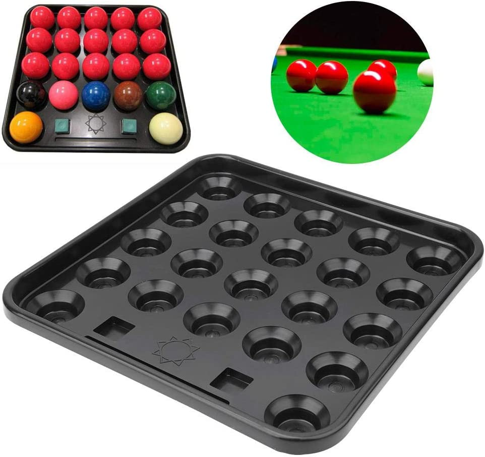 Alomejor Piscine Ball Plateau en Plastique 22 Balles Billard Balles Plateau De Rangement Table Snooker Balles De Stockage Tenant