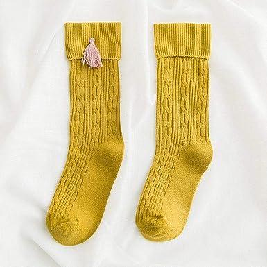 Aohua Practical Vogue Children Long Tube Socks Cotton Long Knee Socks Tassel Winter Warm Hosiery Children Stockings In Fine Style None M Jianghuangm 3 5 Years Old Amazon Co Uk Clothing