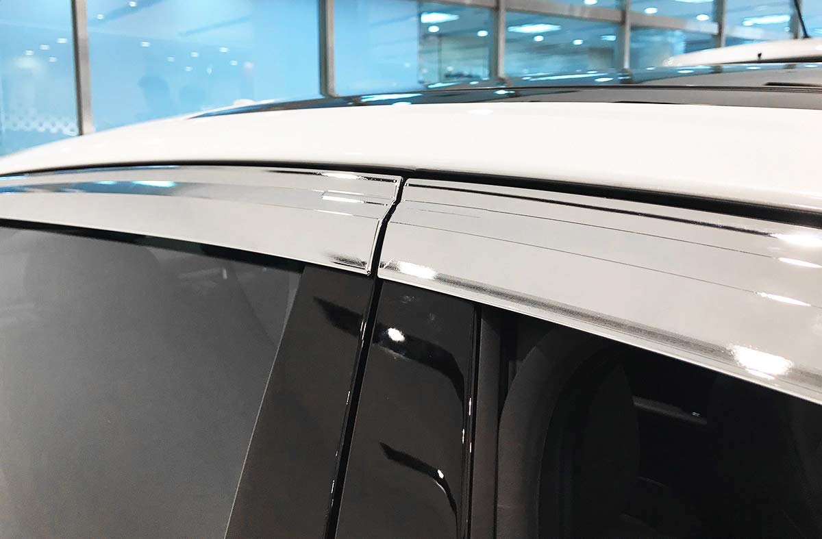 AUTOCLOVER Smoke Tinted Window Visors 4pcs KIA Stinger 2017-2018