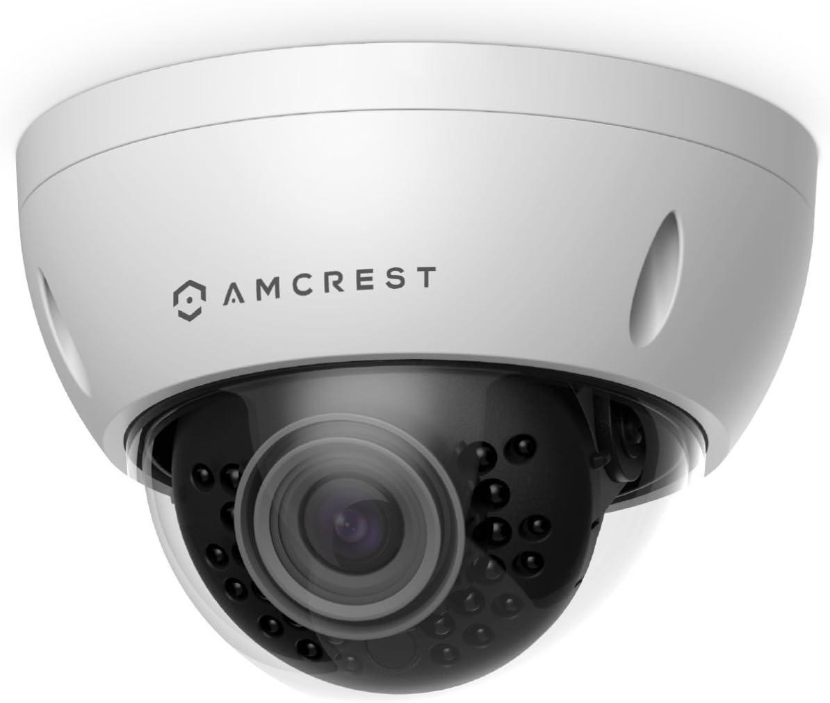 Amcrest ProHD Outdoor 3 Megapixel POE Vandal Dome IP Security Camera – IP67 Weatherproof, IK10 Vandal-Proof, 3MP 2048 TVL , IP3M-956E White