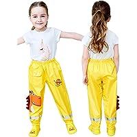 Maeau Pantalones de lluvia para niños y niñas, impermeables, con dibujos 3D, transpirables, para deportes al aire libre…