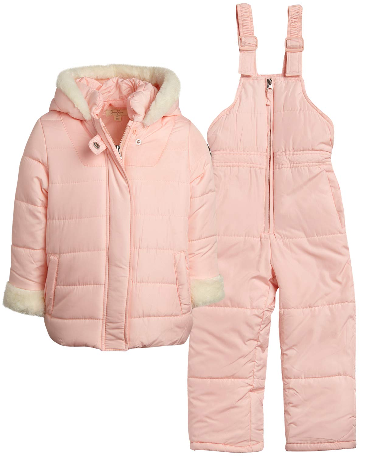Jessica Simpson Baby Girls' 2-Piece Snowset with Snow Bib Pants and Coat, Size 24 Months, Blush' by Jessica Simpson