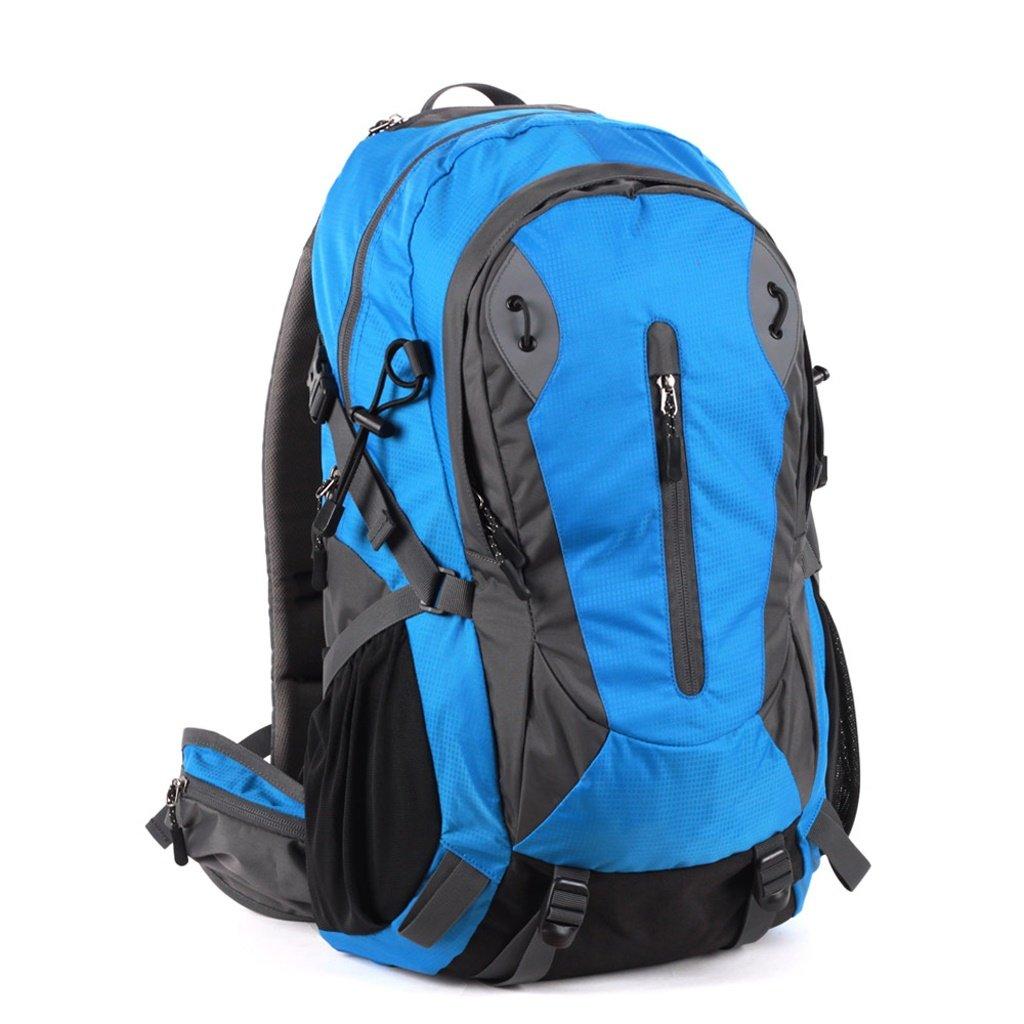 GYZ アウトドア 登山用バッグ 防水 大容量 スポーツ ライディング キャンプ ハイキング バックパック メンズ レディース  ブルー B07JNXQCJL