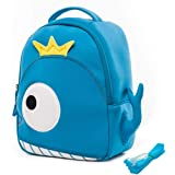 """Cocomilo 12"""" Cute 3D Toddler Kids Backpack for Boys Girls Leash Name Label"""