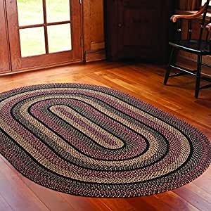 Ihf home decor new braided area rug country for Country style kitchen rugs