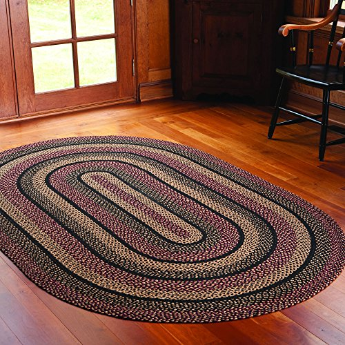 Used Oval Braided Rugs: IHF HOME DECOR Area Accent Braided Rug Oval Floor Carpet
