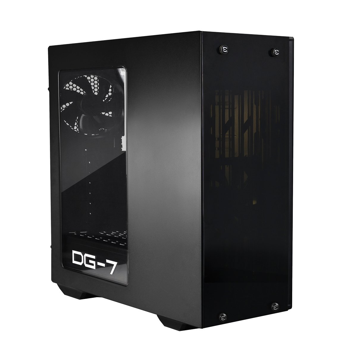 EVGA DG-73 Matte Black Mid-Tower, Acrylic Window, Gaming Case 130-P0-0020-KR