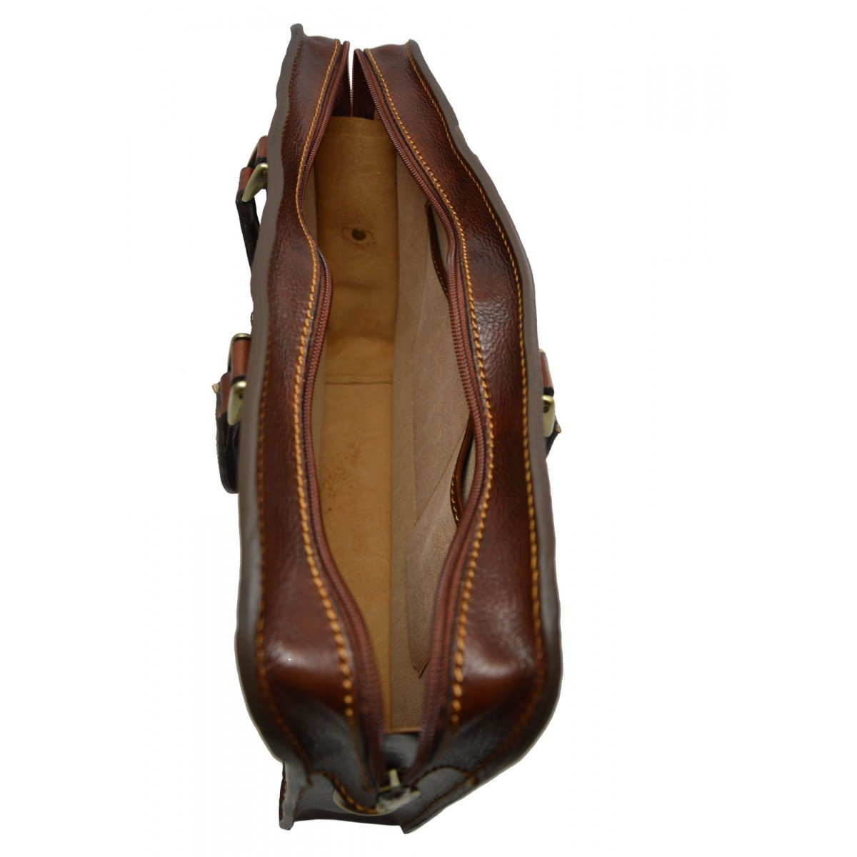 Genuine Leather Business Briefcase Color Brown