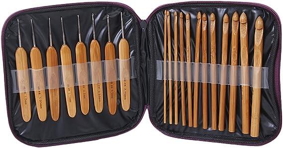 Set de 20 agujas de ganchillo con estuche: Amazon.es: Hogar