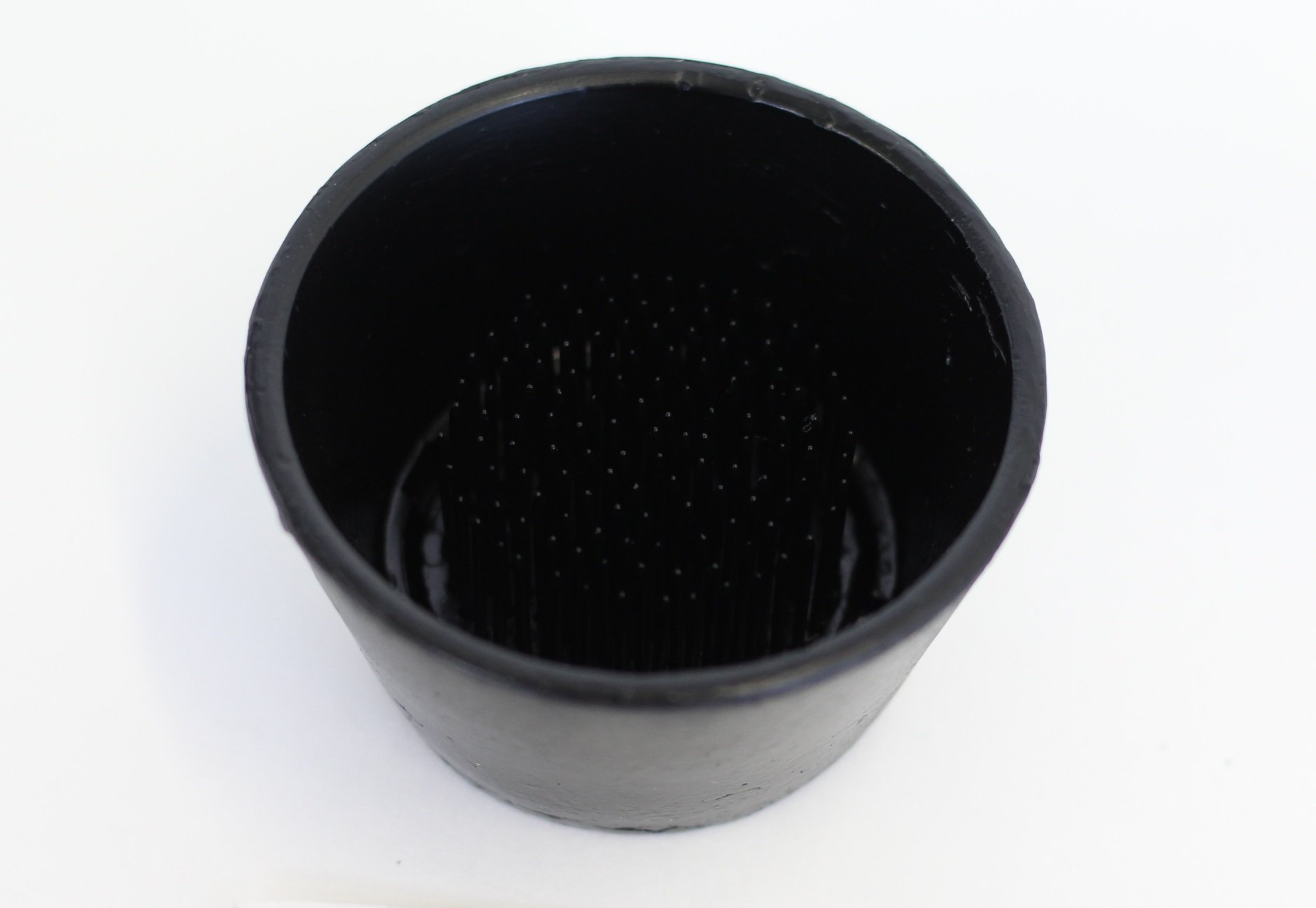 Flower Frog Tapered Pin Cup 2''. No-Rust, Extra-Long Brass Pins Make Designing Easy. Perfect for Ikebana Flower Arranging. Made in the USA. (2'', Black)