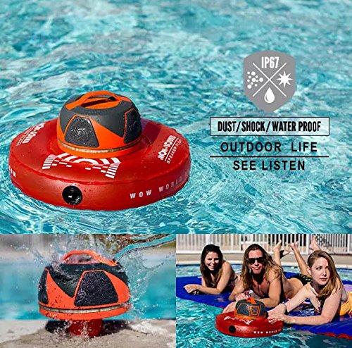 Waterproof, 50 Hour Battery, 360 Degree Sound, LED Light