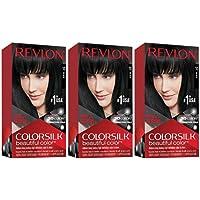 Revlon Colorsilk Beautiful Permanent Hair Color with Keratin (Black)