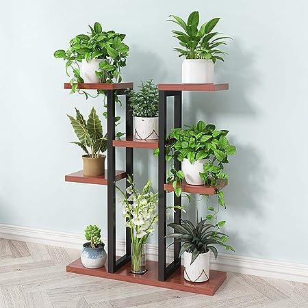 Puesto de plantas Soporte de flores vertical multicapa de hierro ...