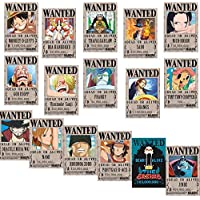 Big Fun One Piece Wanted Posters 42cmÃ-29cm, New Edition, Luffy 1.5 Billion, Set of 16