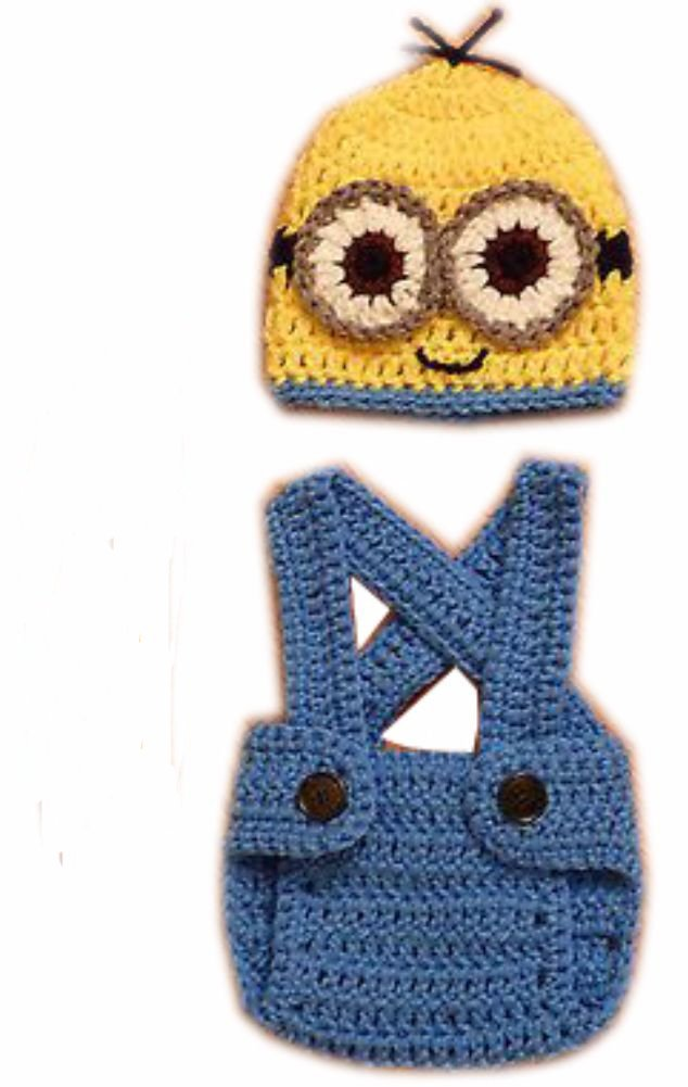 Amazon Despicable Me Bob Minion Cute Shape Crochet Baby Hat And