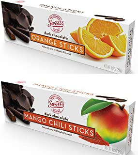 product image for Sweet's Dark Chocolate Orange and Mango Chili 10.5 oz boxes, 2 Count