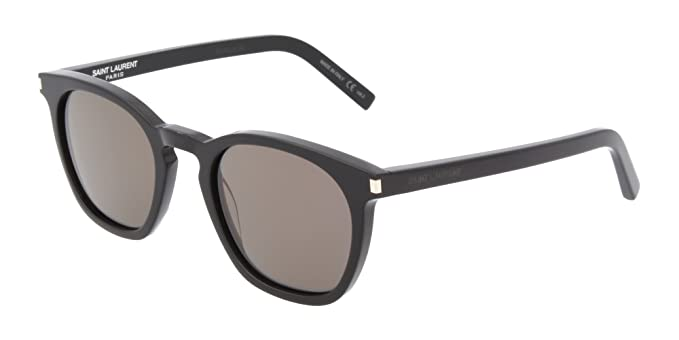 Saint Laurent SL 28 022 Gafas de Sol, Negro (022-BLACK/SMOKE ...
