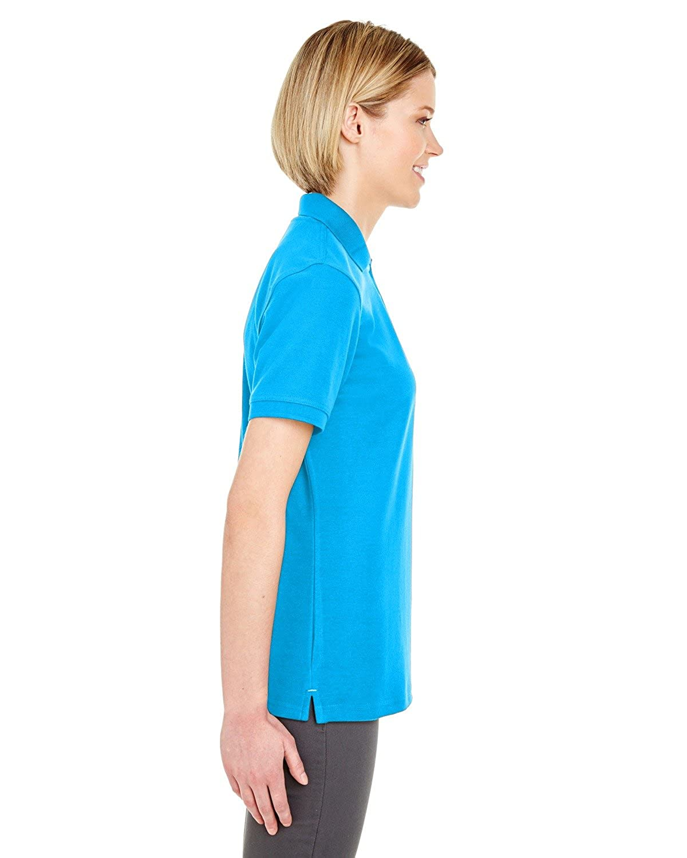 Ultraclub Ladies/' Platinum Honeycomb Piqu/é Polo Shirt