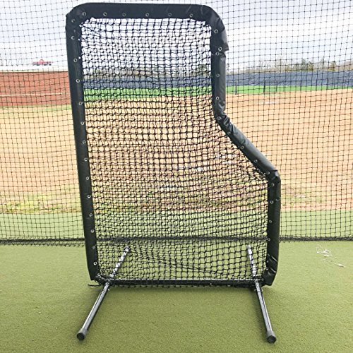 GAMERS SPORTS GROUP BASEBALL PADDED JR L SCREEN 5'x7' 2'' 14 GAUGE STEEL WITH 60 GAUGE HDPE NETTING by GAMERS SPORTS GROUP
