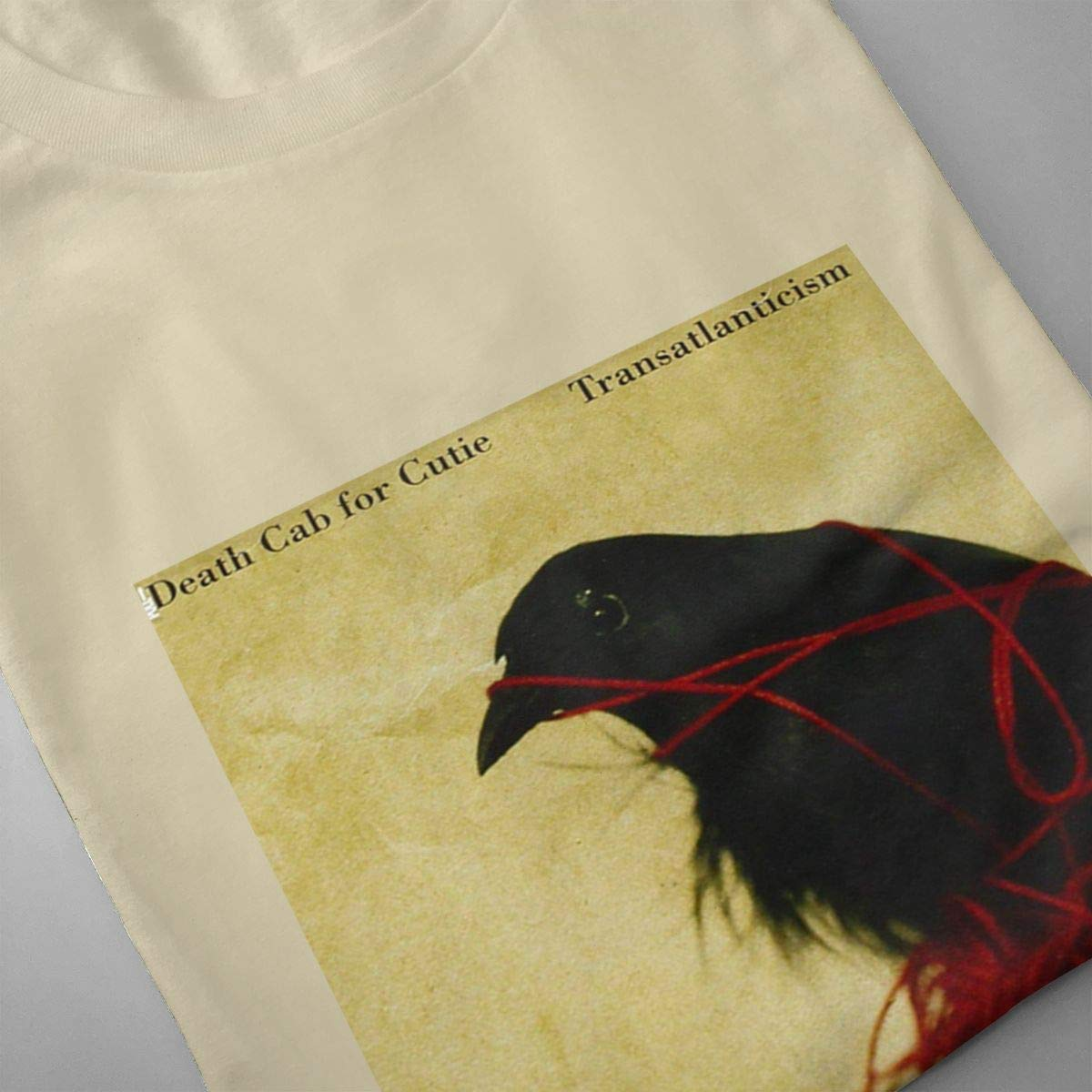 VIIHAHN Mens Death Cab for Cutie Transatlanticism Logo Humor Athletic Round Neck Short Sleeve Shirt