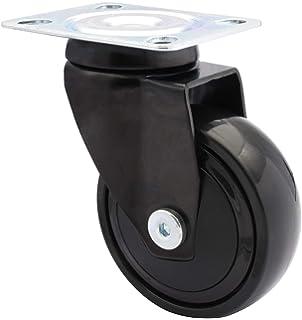 Tragkraft: 50 kg mit Bremse Gummi-Rad Lenkrolle 75 mm schwarz leise und spurfrei