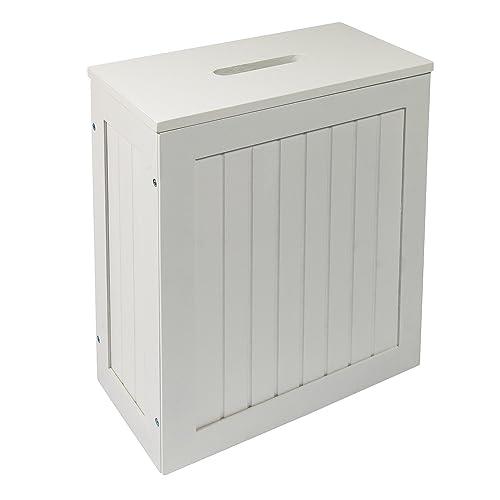 Maine White Bathroom Storage Unit Toilet Cleaning Tidy Box: Amazon.co.uk: Kitchen & Home