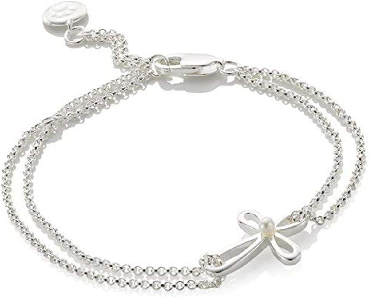 Molly B London 925 Sterling Silver /& Freshwater Pearl Girls First Communion Cross Necklace