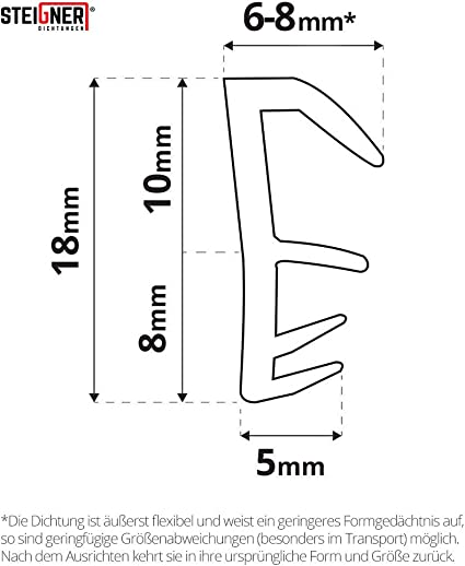 D12*14mm*6Mx1, Braun Fensterdichtung T/ürdichtung Schalld/ämmung Dichtband Zugluftstopper Selbstklebend