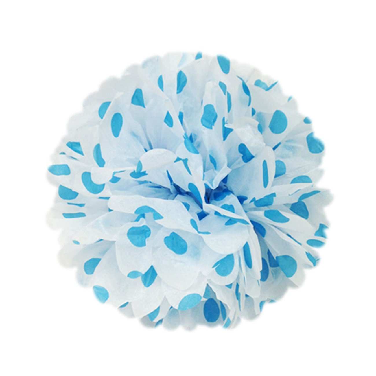Wrapables A67637c Set of 5 Tissue Pom Poms Party Decorations for Weddings, Birthday Parties, Baby Showers, and Nursery Decor, Hot Pink, 8 8