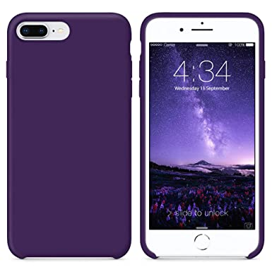 huge discount cbdca 018a1 SURPHY iPhone 8 Plus Case, iPhone 7 Plus Case, Liquid Silicone Gel Rubber  iPhone 7 Plus Shockproof Case with Soft Microfiber Cloth Lining Cushion 5.5  ...