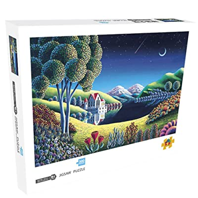 Jigsaw Puzzles 300 Pieces for Adults-Quiet Night Style Paper Puzzle: Toys & Games