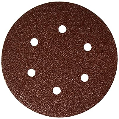 Bosch SR6R042 Random Orbit Sander Hook and Loop 6 Hole Disc 6-Inch 40 Grit Sand Paper, Red, 25-Pack