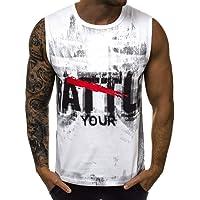 Camisetas Sin Mangas Hombre Verano SHOBDW 2019 Nuevo Camisetas Hombre Tirantes Gym Deporte Fitness Impresión de Letras…