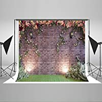 Kate10ft(W)x6.5ft(H)Wedding Photography Backdrops Flowers Brick Wall Photography Background Prop for Kids Newborn Baby Party