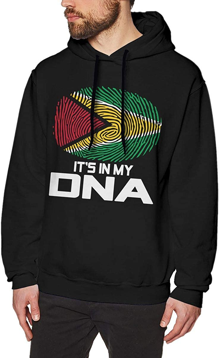 Mens Guyana Its in My DNA Cotton Pullover Hood Cozy Sport Outwear
