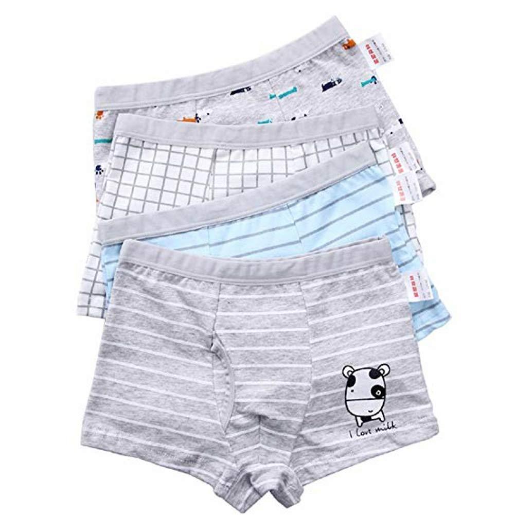 Pulchram 4 Pack Boys Boxer Shorts Kids Boy Briefs Boxer Cotton Underpants Panties Children Underwear for 2-11 Years