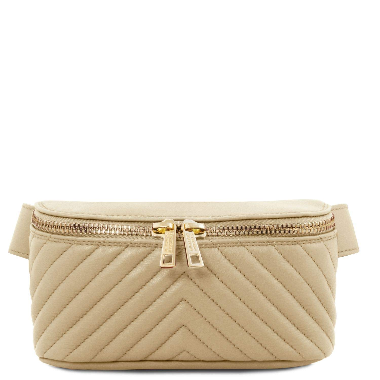Tuscany Leather TLBag Soft leather fanny pack Beige