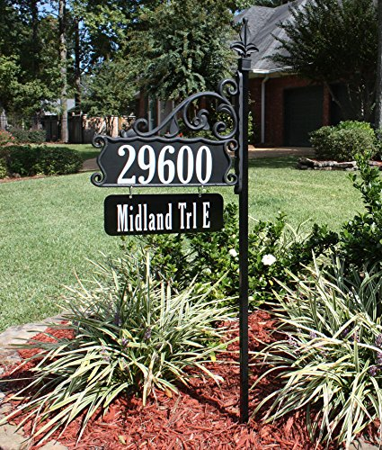 USA Handcrafted Double Sided Super Reflective Address Sign Plaque 48