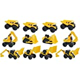 Road Rippers CAT Mini Machine Free-Wheeling Construction Playtime Truck Kit (12 Pack: 4 x Dump Trucks, 2 x Wheel Loaders, 2 x Excavator, 2 x Bulldozers, 2 x Backhoes)