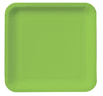 Fresh Lime (Lime Green) Square Dinner Plates Party Accessory by Creative Converting  sc 1 st  Amazon.com & Amazon.com: Fresh Lime (Lime Green) Square Dinner Plates Party ...