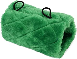 Parrot Bird Hammock Hanging Cave Cage Snuggle Happy Hut Tent Bed Bunk Parrot Toy Green (M)