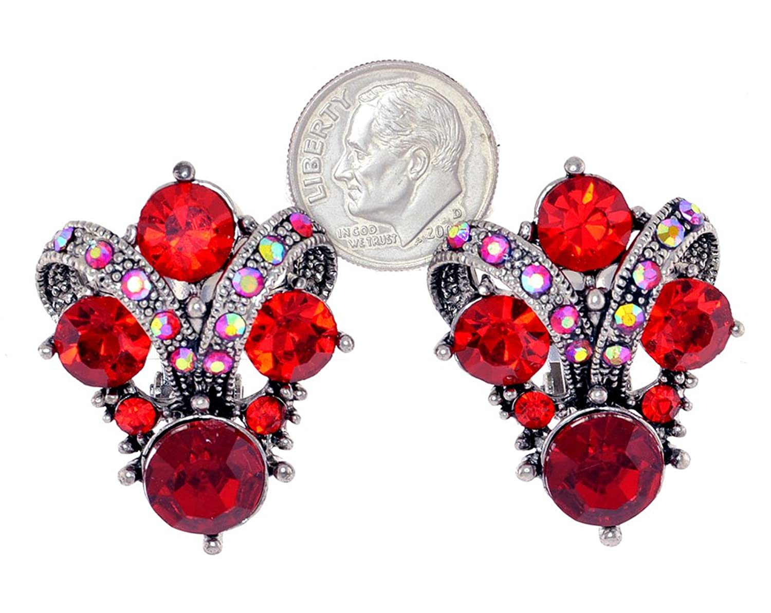 blood silver stunning earrings a red natural kavels pair of vintage ruby sterling
